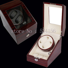 10 color new luxury rotary automatic rotating wooden watch winder display box high gloss piano paint jewelry