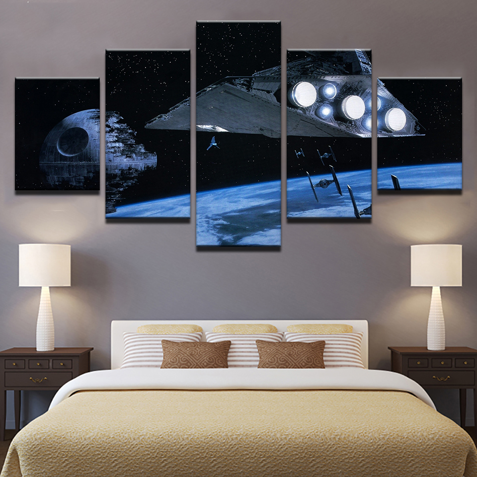 Moderne Leinwand Abstrakte Bilder Home Decor 5 Stücke Star Wars ...