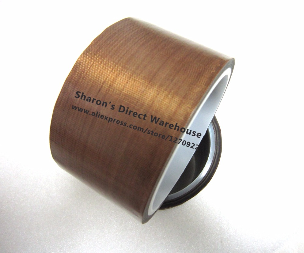 50mm*10 meters *0.25mm Thick PTFE  Teflon Tape, High Temperature Withstand Insulation Self Adhesive for LCD, Vacuum Sealer 1 roll 30mm 10 meters 0 13mm high temperature stand hot insulating adhesive wear resistance teflon tape for lcd bga roller