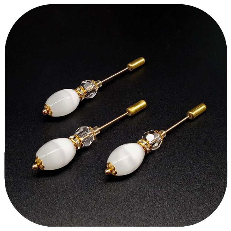 Ovalne kuglice s opalom Duga nožica igle Broš Ručno izrađene igle - Modni nakit - Foto 4