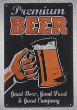 1 pc Premium Good Beer cocktail bar Brewery Tin Plate Sign wall man cave Decoration Man Art Poster metal vintage