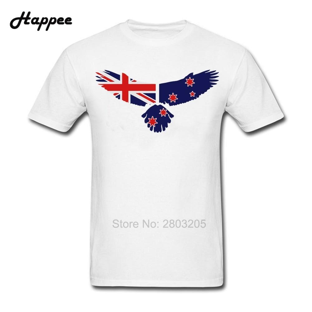 Design t shirt new zealand - Personality Eagle New Zealand Flag T Shirts Men S 100 Cotton Plus Size Tee Shirts