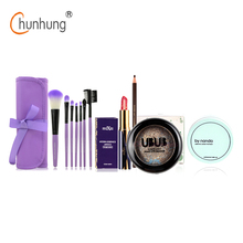 5 Pcs/set Makeup Set Makeup Brushes Set Nude Eye Shadow Lipstick Powder Eye Brow Pencil Make Up Tool 2016 New Cosmetics Kit
