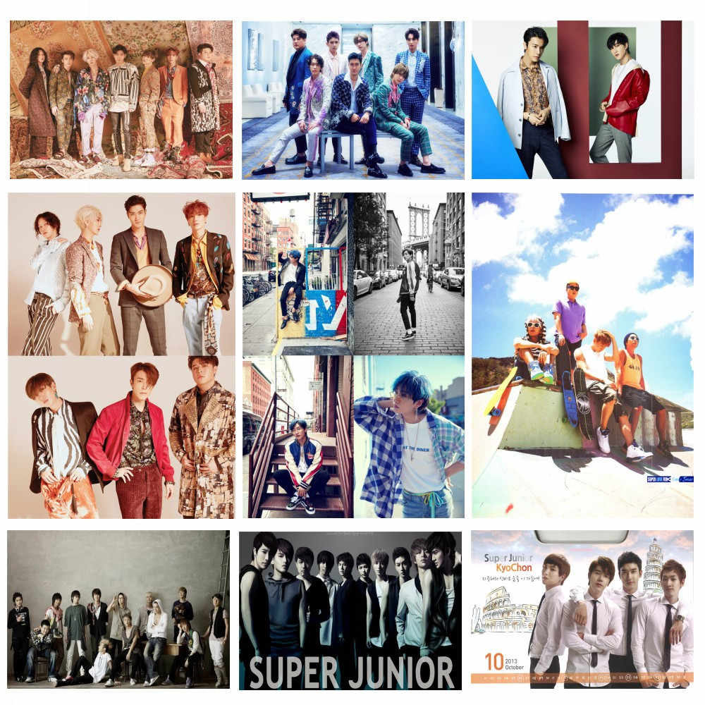 Kpop music band Super Junior Poster K-POP Music White Coated Paper Prints Clear Image Home Decoration Home Art Wall Stickers