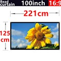 100Inch 16:9 Bead curtain Fabric High-definition2.8 Gain projection screen Wall Mounted for all Low brightness led dlp projector