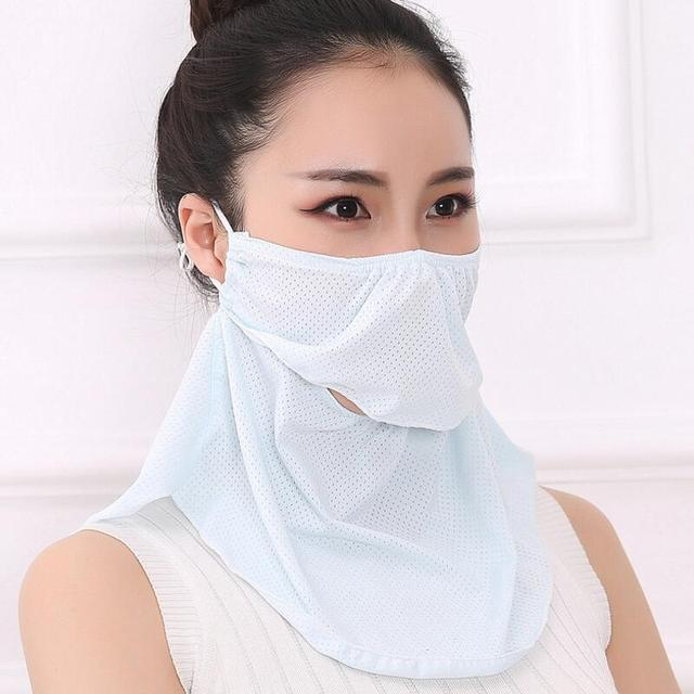 Summer Spring Breathable women neck protection face mask sun protective Shade anti-dust mask Mouth-muffle Mask Flu Face masks 5