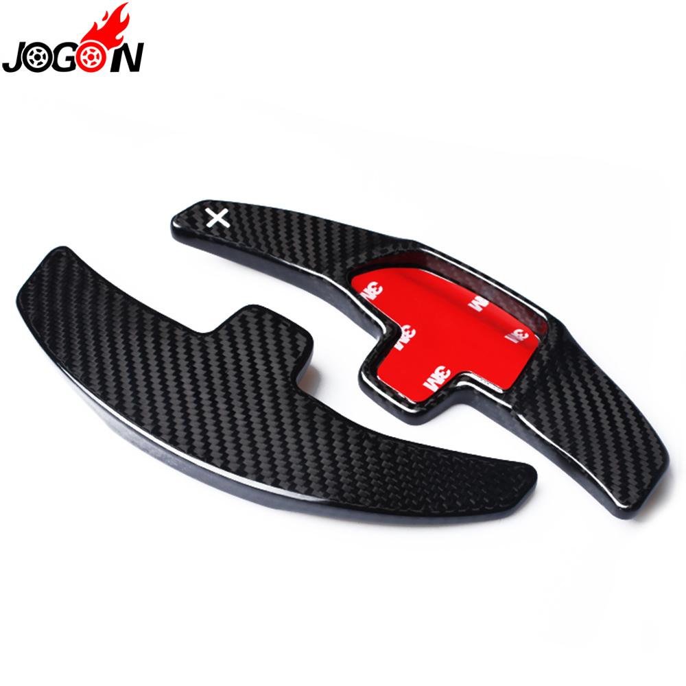 Real Carbon Fiber For Mercedes Benz S CLA CLS GLE Class W222 C117 W166 16-18 Steering Wheel Paddle Extension Shifter Cover Trim