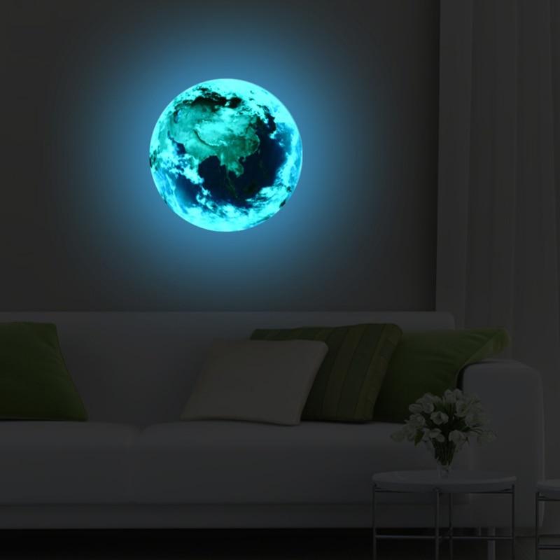 New-Luminous-blue-earth-Cartoon-DIY-3d-Wall-Stickers-for-kids-rooms-wall-sticker-Home-decor(2)