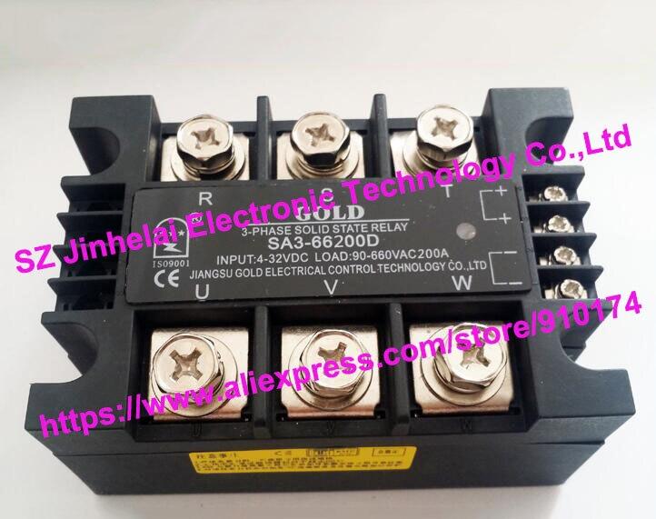 New and original SA366200D SA3 66200D GOLD 3 PHASE Solid state relay 4 32VDC 90 660VAC