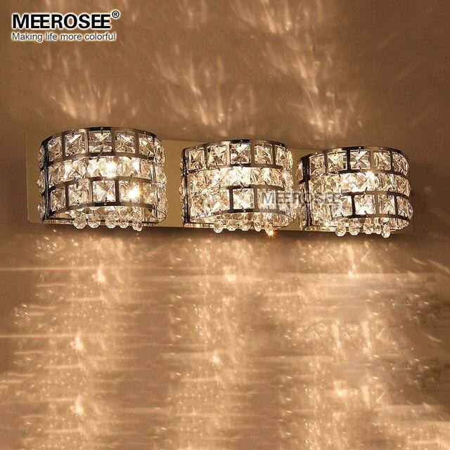 Fast Shippment Luxurious Crystal Wall Lamp Chrome Aisle Hallway Wall - Bling bathroom lighting