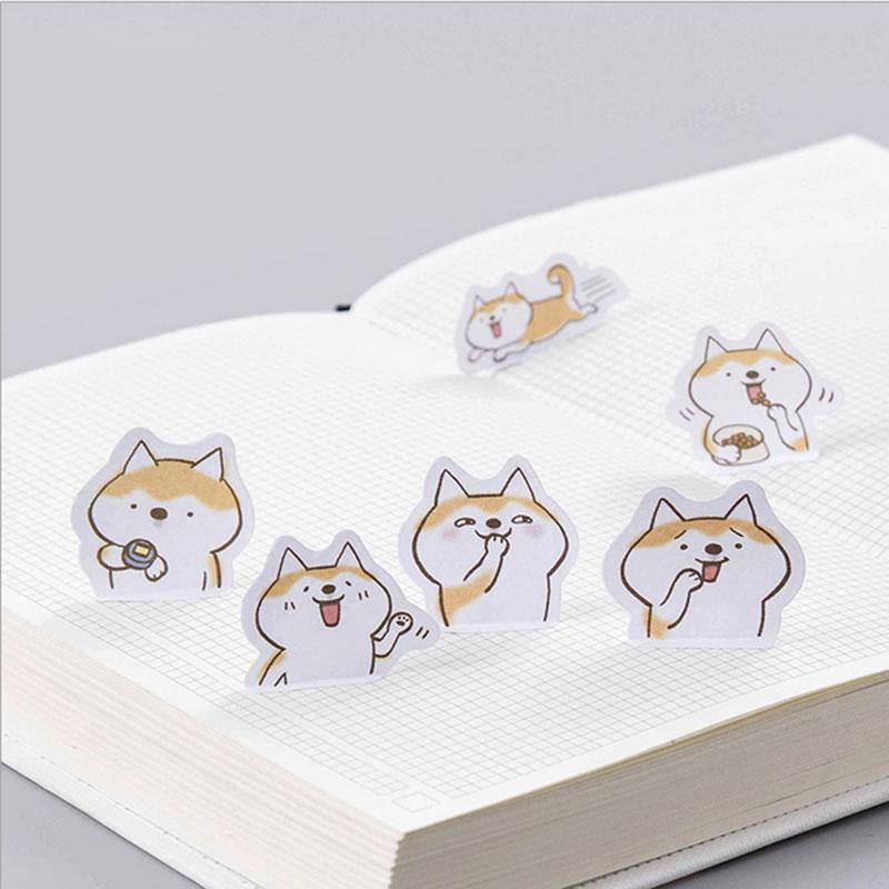 Купить с кэшбэком 45pcs/lot Cute dog mini paper sticker decoration DIY ablum diary scrapbooking label sticker kawaii stationery Label Stickers
