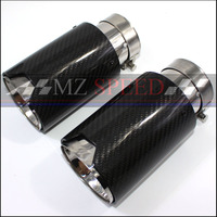 1PCS 66MM in 95MM out M Performance Exhaust Tailpipe Car Carbon Fiber Exhaust End Tips for BMW M3 M5 M6