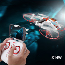 2017 New X14W WIFI FPV RC drone 2.4G 6 axis Gravity Control Flight-track remote control helicopte With 720P Wifi HD camera