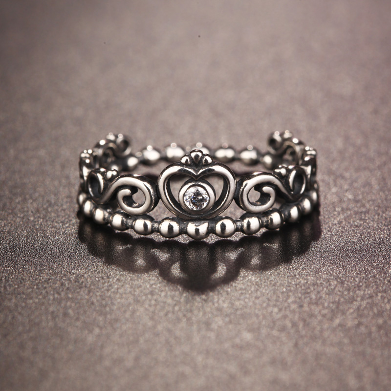 925 Sterling Silver Ring Crown Ring