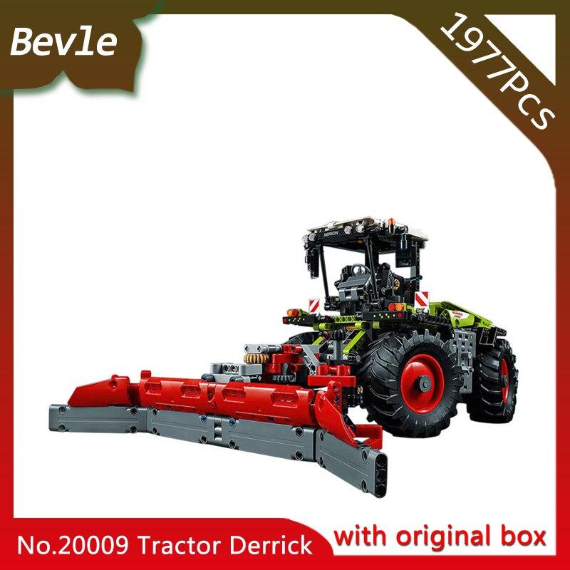 Bevle Store LEPIN 20009 1977Pcs with original box Technic series Electric heavy tractors Model Building Blocks Toys 42054