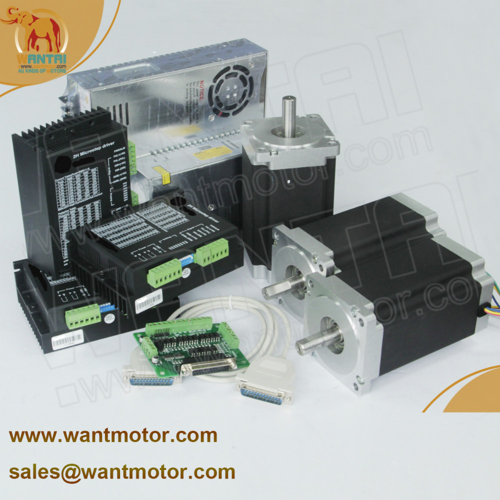 (Ship from USA &Free ship to USA) 3 Axis Nema 34 Wantai Stepper Motor 1600oz,3.5A  Dual Shaft CNC Laser, 3D Printer  цена и фото