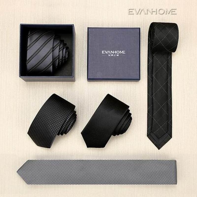 SALE New 2017 High Quality Designers Brand 5CM Slim Tie Men Casual Ties For Men Silk Tie Mens Ties Luxury Necktie With Gift BOX