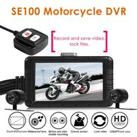 SE100 HD 1080p Motorcycle DVR Front+Rear View Dual Cameras Motorcycle Dash Cam Auto Video Recording of Automobile Start up
