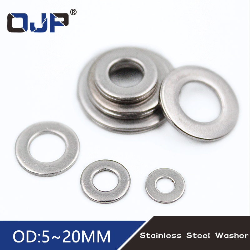 100pcs M2 M2 5 M3 M4 M5 M6 M8 M10 DIN9021 GB96 304 A2 70 Stainless Steel Flat Machine Washer Plain Washer Flat gasket Rings in Washers from Home Improvement