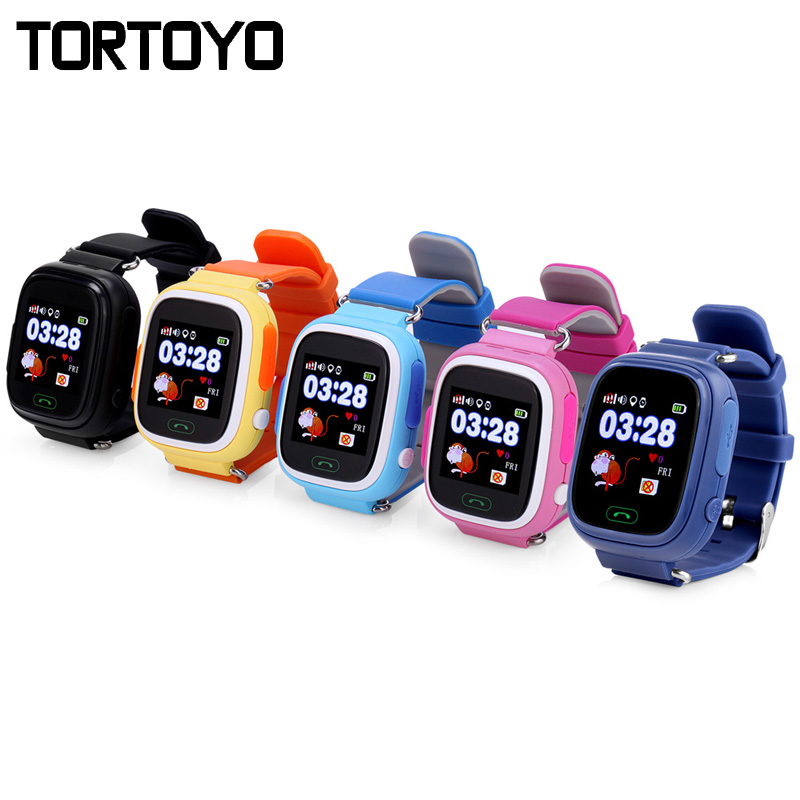 TORTOYO Q90 Kid Smart Watch Phone Touch Screen GPS+LBS+WIFI Positioning Tracking Watch SOS Call Safe Monitor Anti Lost Baby Gift