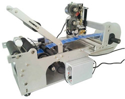 factory wholesales semi automatic tabletop labeling machine with label printing machine