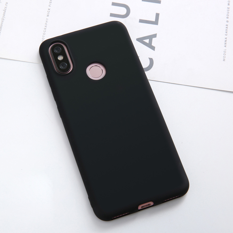 Luxury Liquid Silicone Protective Shockproof Full Cover For Xiaomi MiA2 Mi6X Mi A2 6X Soft Silicon Candy Color Phone Back Case in Fitted Cases from Cellphones Telecommunications