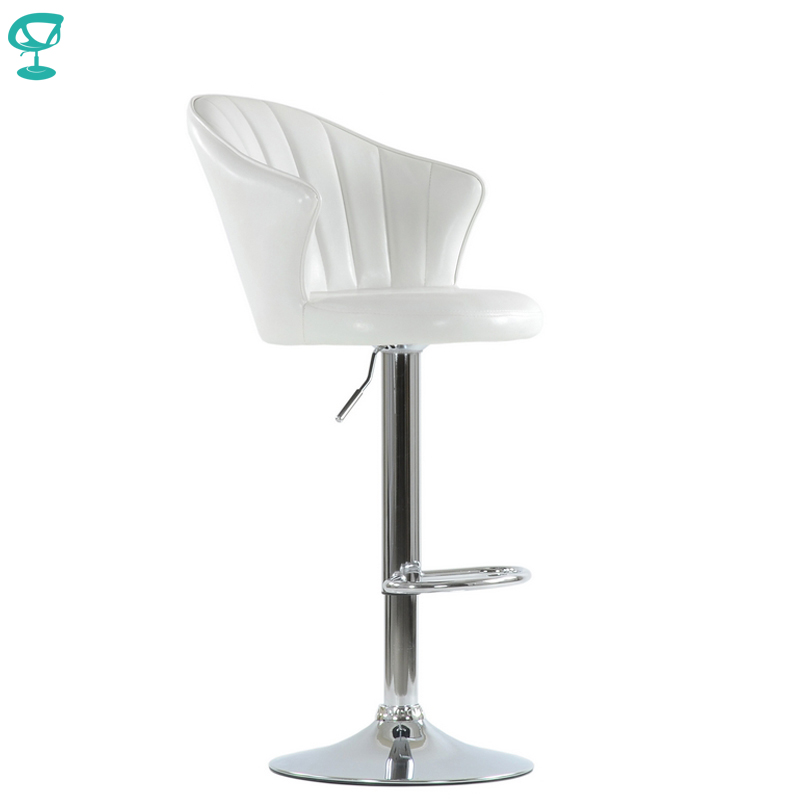 N31CrSpuWhite Barneo N-31 SPU Leather Kitchen Breakfast Bar Stool Swivel Bar Chair Shiny White Color Free Shipping In Russia
