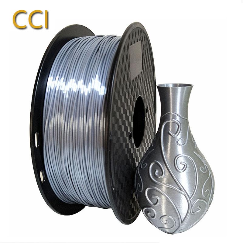 3D printer PLA filament silk silver 1 75mm 1kg 3D SILK PLA silk like material orange