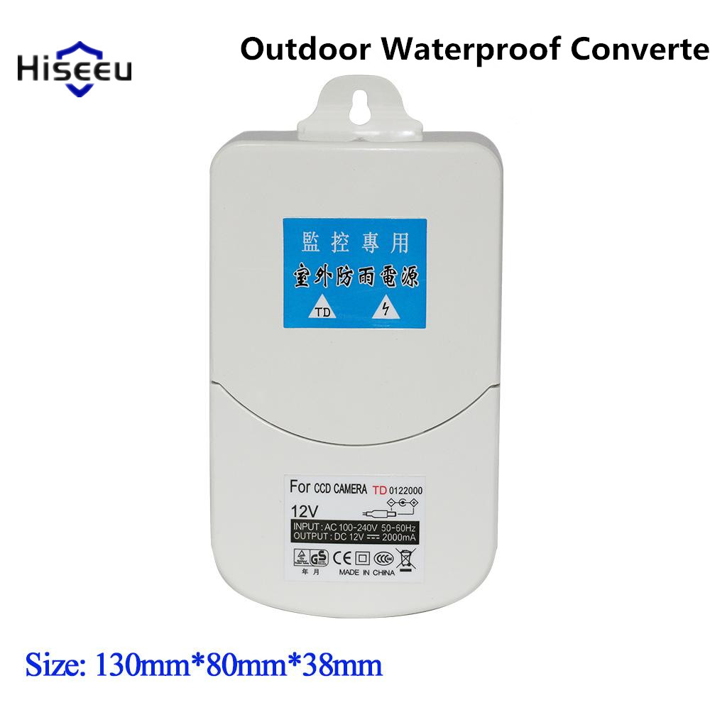 все цены на  Outdoor Waterproof Converter Power Adapter Switching Supply 100-240V AC Input DC 12V 2A output Box For Security Camera Hiseeu 25  онлайн