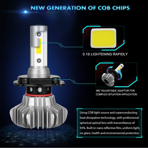 Image 2 - CO LIGHT H7 LED ไฟหน้าหลอดไฟ H4 LED 60W COB Hi Lo Beam Auto ไฟหน้ารถหลอดไฟ 12V ไฟตัดหมอก 24V สำหรับรถยนต์สากล