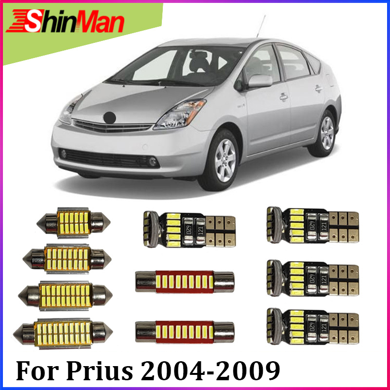 ShinMan 11x LED CAR Light Car led interior Car lighting Reading light Bulb For Toyota <font><b>Prius</b></font> LED Interior Light kit 2004-2009 image