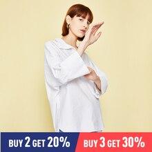 все цены на Toyouth Office Lady White Cut-out V Neck White Top 2019 Elegant Workwear Long Sleeve Blouse Women Autumn Top Blouses онлайн