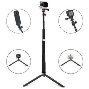 Image 4 - Anordsem Accessories Extendable Selfie Stick Monopod Mount Tripod for GoPro Hero 8 7 6 5 4 sj DJI Action Cameras For XiaomiYI 4K