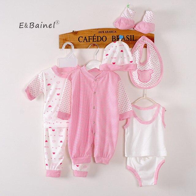 67e82c59d1f9f E & Bainel 8 pièces/ensemble nouveau-né bébé fille vêtements coton bébé  ensemble