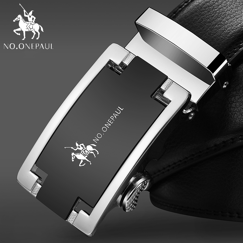 NO.ONEPAUL Man Strap Cinturones Hombre New Arrival Designer Genuine Leather Men Belts High Quality Automatic Buckle Belt ZDC11