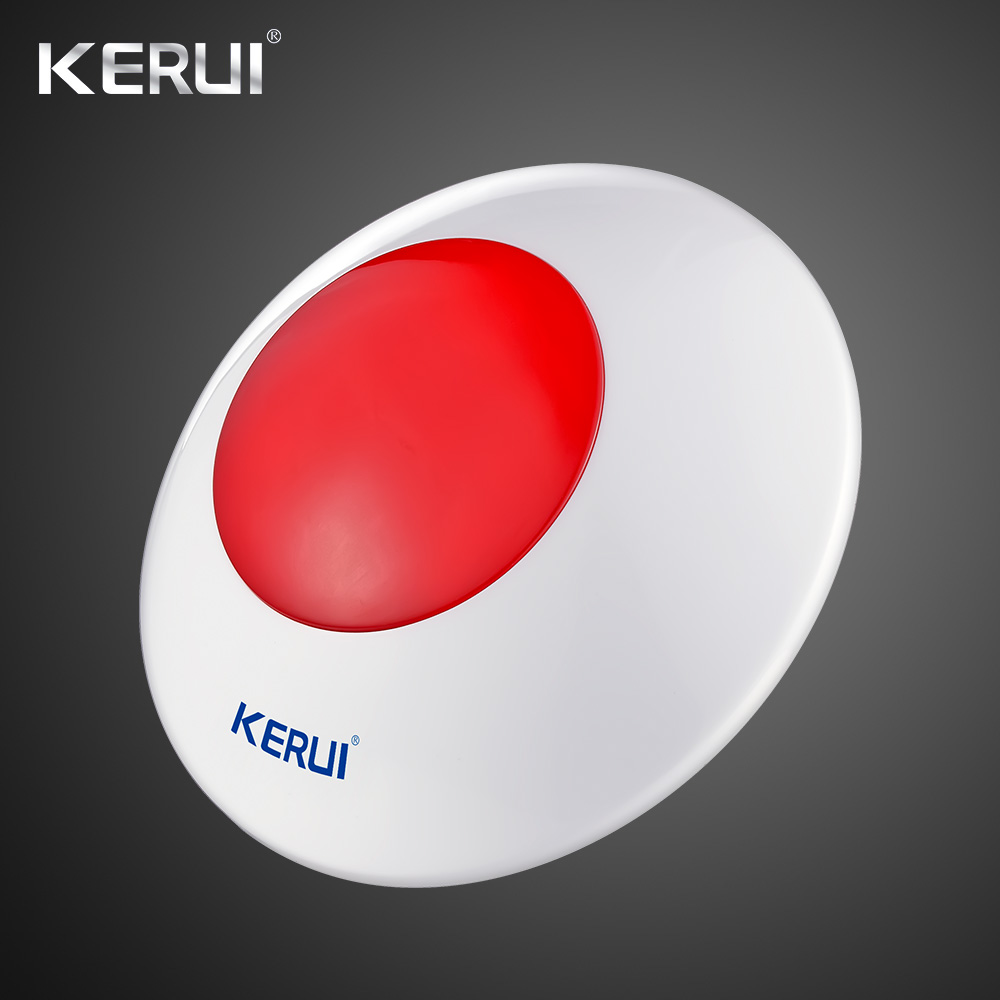 Image 2 - 433 MHz Wireless Flash Siren  Alarm Siren Horn Red Light Strobe Siren For Home Alarm System Security kitlight stagesiren outdoorlight up usb drive -