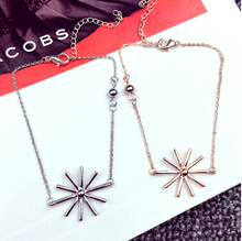 S 32 2016 New South Korean real estate selling necklace cute Christmas snow sun flower bracelet jewelry wholesale sons