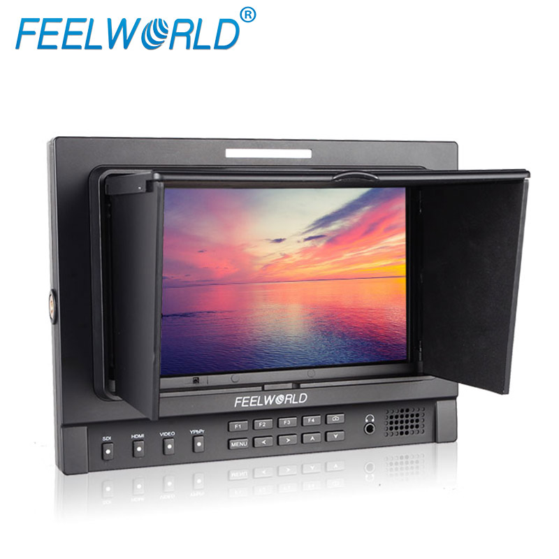 Feelworld FWT-1D 7 Inch IPS Field Monitor with Tally Peaking Focus Color Histogram 3G-SDI DSLR Camera External LCD Monitors new aputure vs 5 7 inch 1920 1200 hd sdi hdmi pro camera field monitor with rgb waveform vectorscope histogram zebra false color
