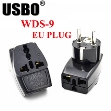цена на Multi-function Black 10A 250V Europe 2pin universal AC power adapter plug AU/UK/US/EU to EU travel adaptor plug socket converter