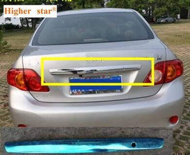 Couvercle de décoration de coffre arrière de voiture en acier inoxydable étoile supérieure, barre de décoration avec trou de clé pour Toyota Corolla 2007-2011