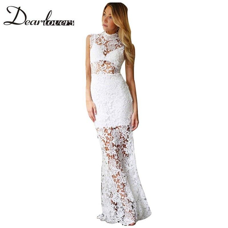 Black floral lace maxi dress