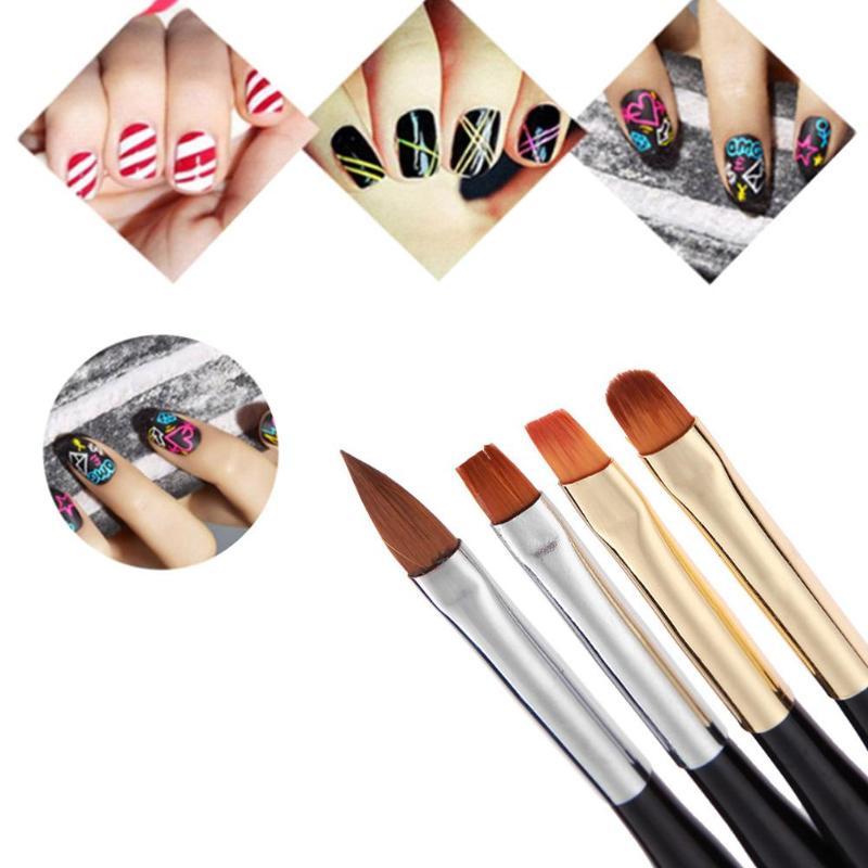 1pc Double Head Nail Brush Liner Brushes Nail Polish Gel Art Paint Design Pen Nail Tools Pennelli Nail Art nagel kwasten