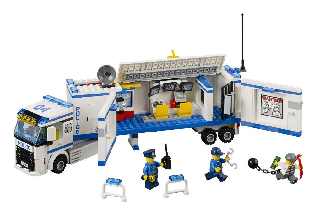 BELA City Police Mobile Police Unit Building Blocks Classic For Girl Boy Kids Model Toys  Marvel Compatible Legoe