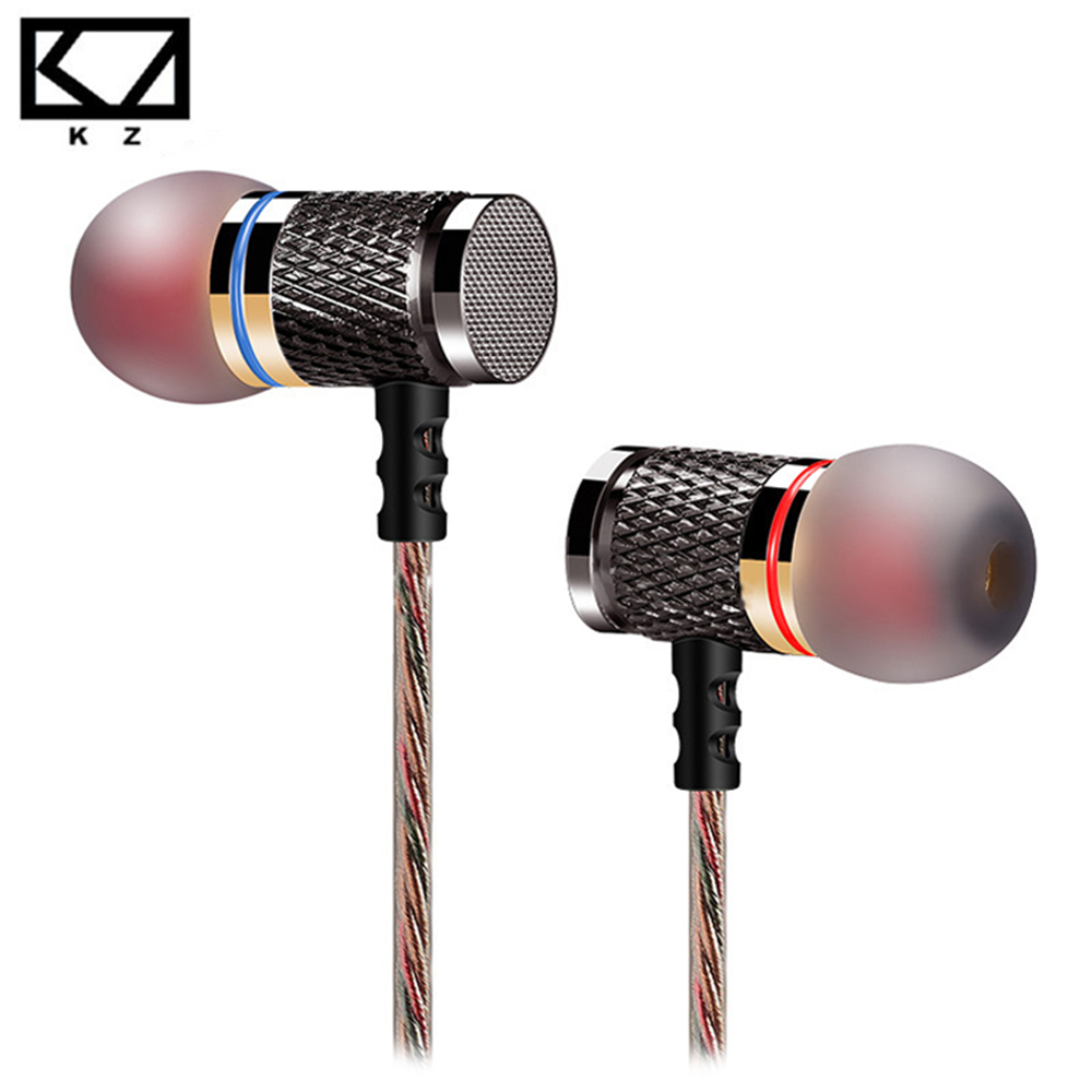 KZ ED2 In-Ear Earphone Professional Earphones in-ear Headset Metal Heavy Bass sound DJ MP3 Quality Headset Music fone de ouvido factory price binmer 3 5mm super bass stereo in ear earphone fone de ouvido headset for tablet mp3 drop shipping wholesale