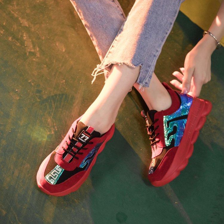 Vieux Sauvage Casual Femmes De Respirant rouge Plat Harajuku Bleu Chaussures 2018 Nouveau Étudiant Personnalisé Aq8vBU