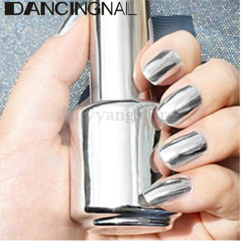 2pcs 15ml Metallic Mirror Effect Metal Silver Nail Polish Varnish Top Coat In From Beauty Health On Aliexpress Alibaba Group