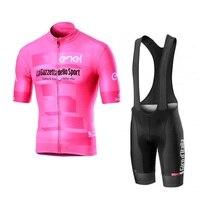 2019 New Pro Tour De Ý Hồng Đi Xe Đạp Jersey Bộ Dụng Cụ Xe Đạp Maillot Thoáng Khí MTB Thoáng Xe Đạp Quần Áo Ropa Ciclismo gel Pad