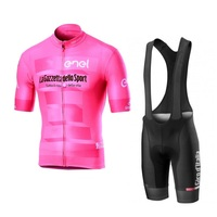 2019 new pro tour de italy pink cycling jersey kits Bicycle maillot breathable MTB quick dry bike clothing Ropa ciclismo gel pad