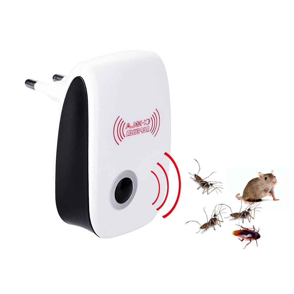 Electronic Mosquito Repellent Ultrasonic Pest Repeller Rodent Contro Indoor Cockroach Mosquito Insect Killer EU/US Plug