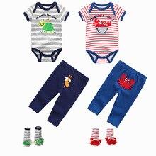 Super suave 100% algodón verano bebé niña monos con manga corta cuello redondo 6 12M bebé mono Niñas ropa bebé niña